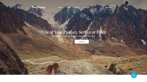 BonVoyage Travel Landing Page Template