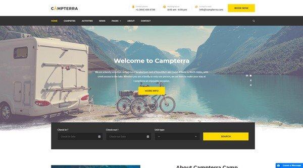 Campterra Camping WordPress Theme