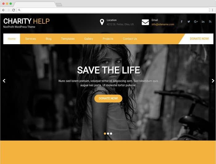 Charity Help is a WordPress theme for non-governmental organization and foundations.