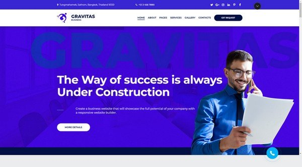 Gravitas Business Website Design