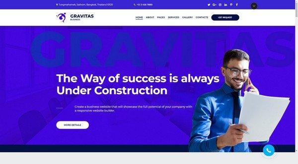 Gravitas Business Website Design