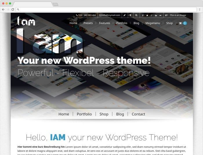 I AM is a WordPress theme for small companies.