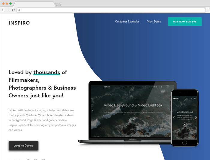 Inspiro is a flexible and elegant WordPress theme.