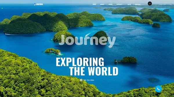 Journeo Travel Website Design