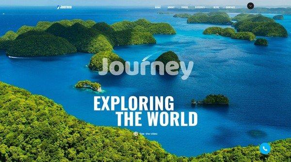 Journeo Travel Website Design