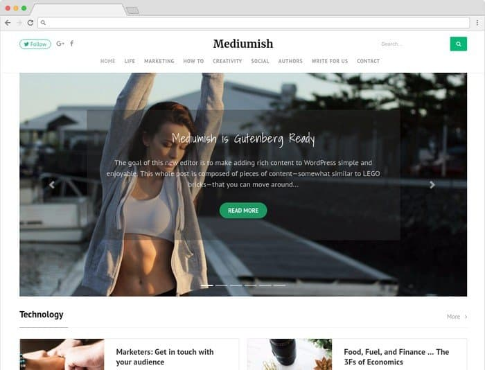 Mediumish is a magazine and blogging WordPress theme.