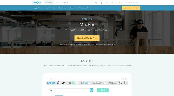 With MozBar you can generate instant reports of the website you are visiting.