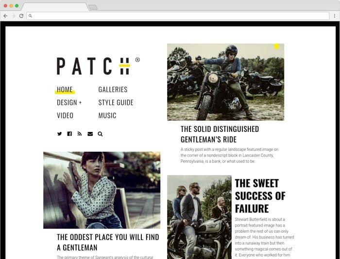Patch is WordPress magazine-style theme.