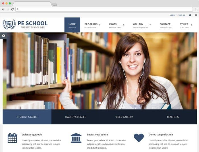 School WCAG is a multipurpose WordPress theme that follows WCAG and ADA standards.