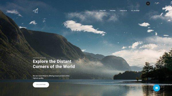 Skyline Travel Agency Landing Page