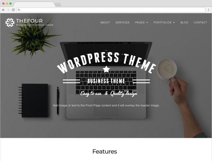 TheFour is a modern WordPress business theme.