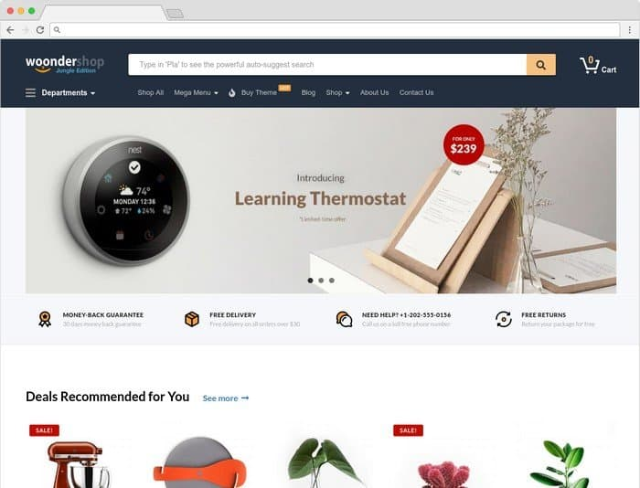 WoonderShop is a WooCommerce theme for e-commerce professionals.