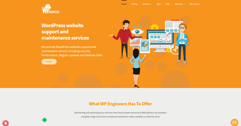 WpEngineers - WordPress website support and maintenance services.