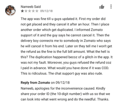 Zomato updated their UI and everything changed.