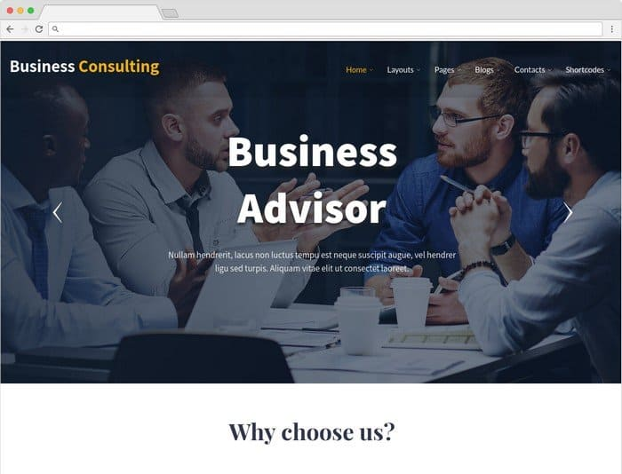 Business Consulting is a modern and trendy WordPress theme.