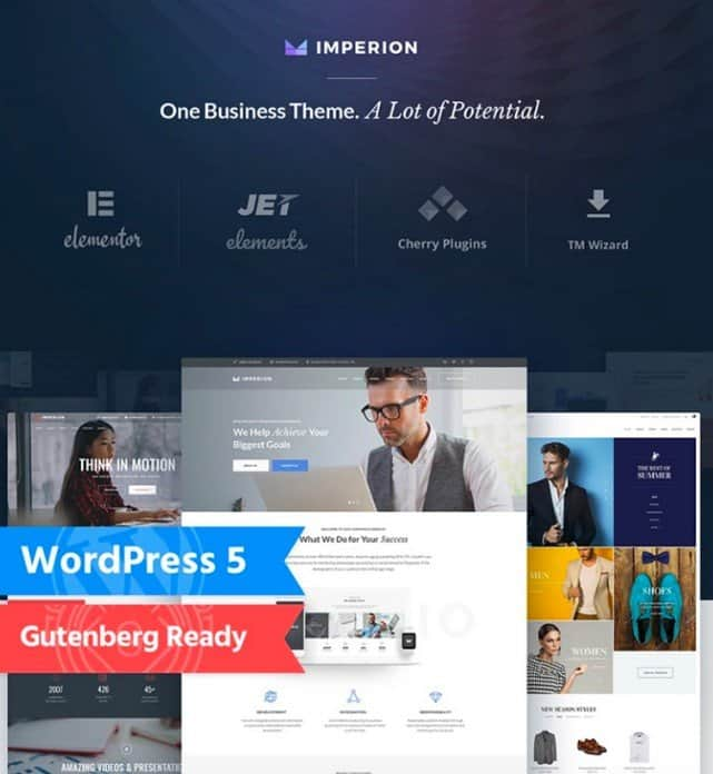 Imperion is a marketing WordPress theme.