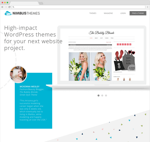 Nimbus Themes offering a great set of 10 WordPress themes.