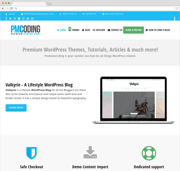 PremiumCoding offering 30+ great WordPress themes.