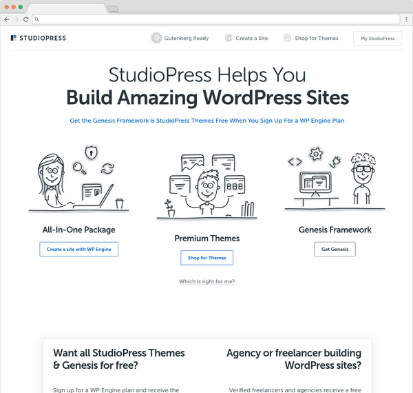 StudioPress is a well-known premium WordPress theme seller in the community.