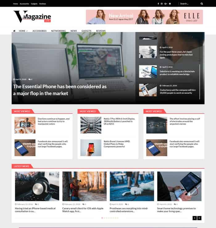 Tech Mag is perfect for all news and magazine websites.