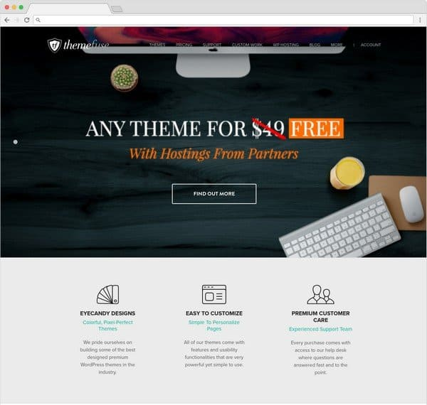 ThemeFuse offering more than 50 professional WordPress themes.