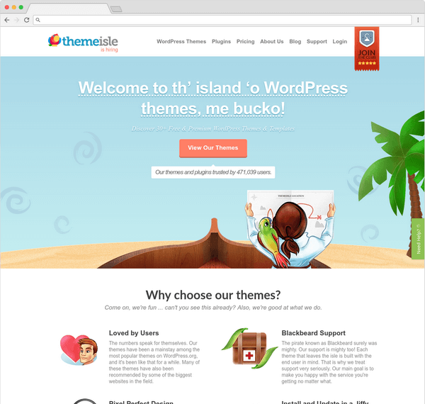 ThemeIsle offering WordPress themes that are professionally designed.
