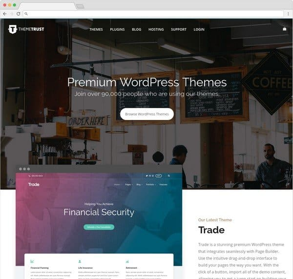 ThemeTrust offering a great theme collection with a yearly subscription.