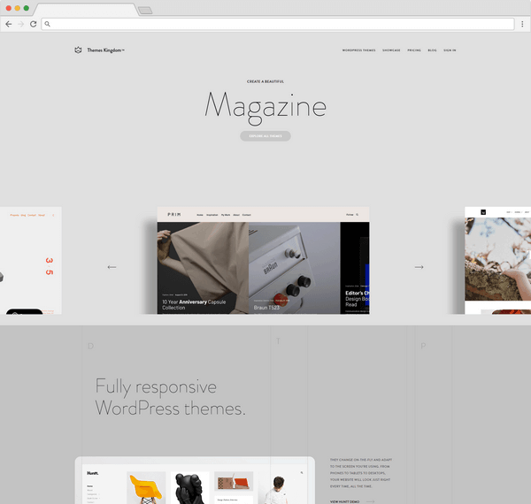 Themes Kingdom features over 20 WordPress themes.