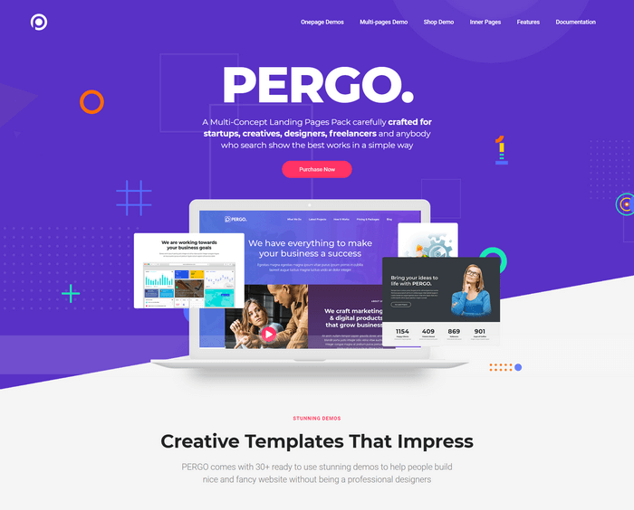 Pergo is a multi-purpose WordPress landing page.