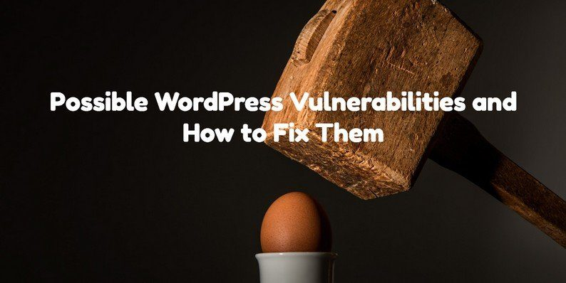 Possible WordPress Vulnerabilities and How to Fix Them
