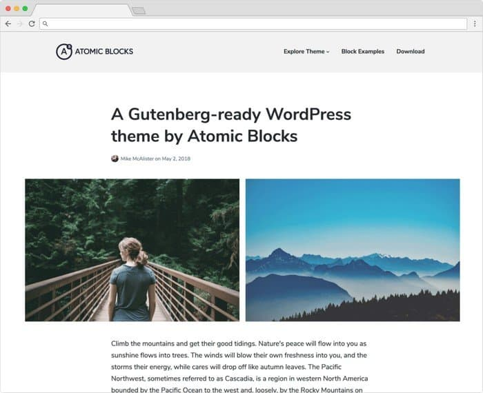 Atomic Blocks is designed in elegant style and crafted specifically for the Atomic Blocks plugin.
