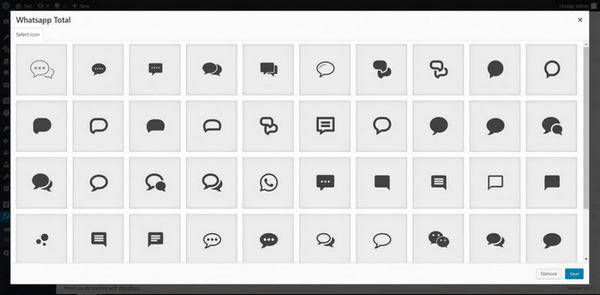You can select between beautiful custom icons.