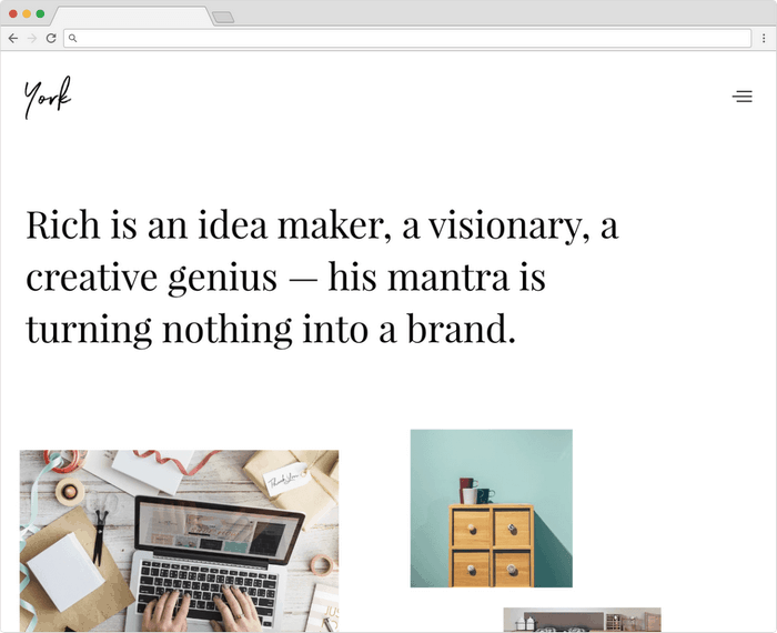 York Lite is a WordPress theme in grid layout.