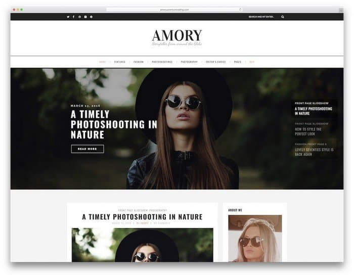 Amory is a great template for beginners.