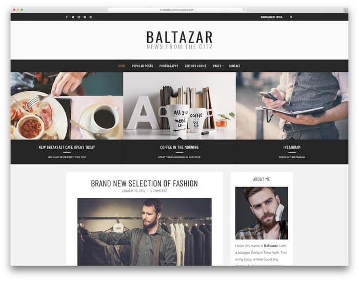 Baltazar is versatile and highly adaptive WordPress theme.