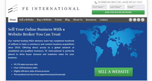 FE International is an agency that has specialized in selling websites since 2010.
