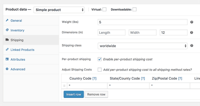 With this plugin you can configure varied shipping costs based on the shipping destination.