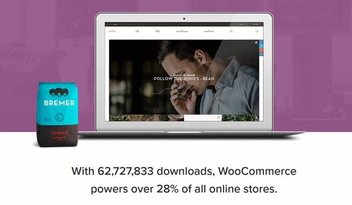 Get professional eCommerce through WooCommerce in WordPress.org.