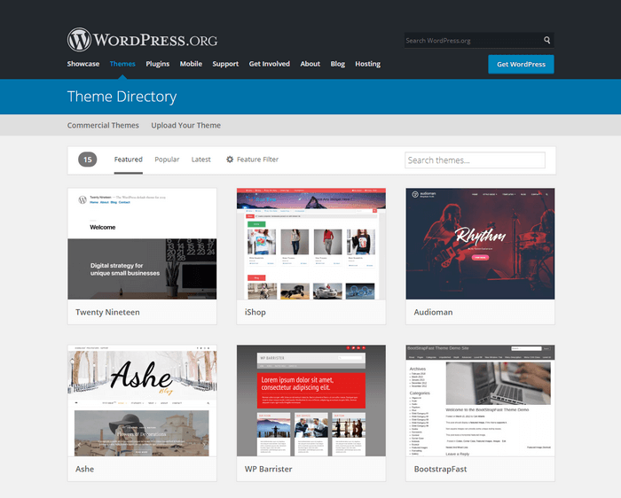 WordPress offer tons of themes.