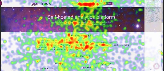 Analyze User Activity on Your WordPress Site Using Heatmaps - This heat map shows traces of the way your user moved his/her mouse.
