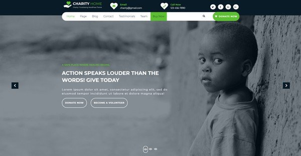 Charity Fundraiser is a free WPtheme from Themes Glance