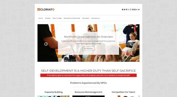Cloriato is a charity WordPress theme from Inktheme.