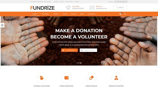 Fundrize is a non-profit WP theme.
