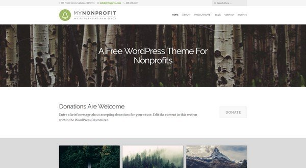 GivingPress Lite is a free multipurpose WordPress theme.