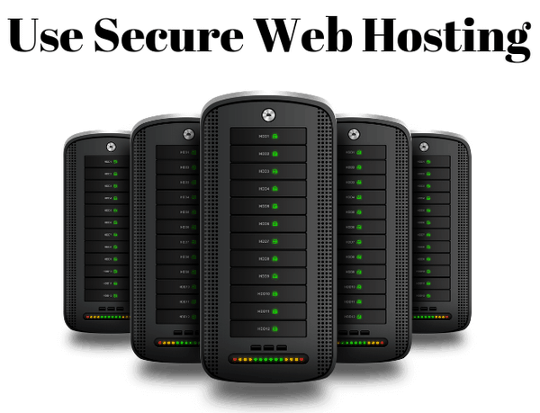 Choose the best hosting provider for your website.