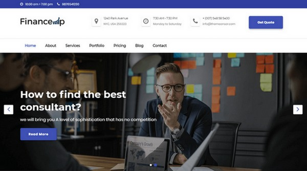 Financeup is free WordPress theme for the finance world.