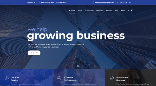 Financity is WordPress theme for financial services.