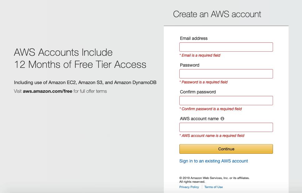 Create an AWS Account