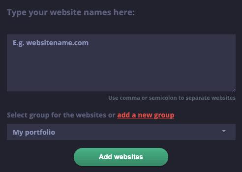 Webmaster - Adding new website