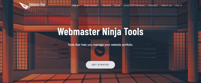 Webmaster Ninja Tools Banner